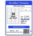"3000 1"" x 2 5/8"" Pro Office Self-Adhesive Address Label FedEx UPS Shipping label"
