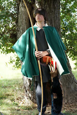Medieval-LARP-SCA-Re enactment-Cosplay-Wicca GREEN Archers/Nobleman Cloak