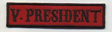 vice president patch badge car club motorcycle biker MC vest jacket red black