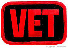 MILITARY VET MOTORCYCLE BIKER PATCH RED WAR EMBLEM embroidered iron-on applique