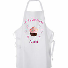 ' Lovely Cup Cakes ' Adults Apron Personalised with your Name - Lovely Gift