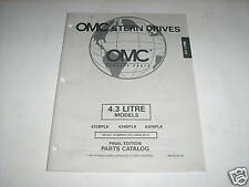 OMC Cobra Stern Drives 4.3 Parts Catalog 1997