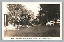West End WHYCOCMAGH Nova Scotia RPPC Rare Vintage Photo Cape Breton 1947