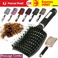 Detangling Nylon Bristle Brush Detangle Hairbrush Women Hair Scalp Combs