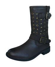 Chaussures marrons zip en cuir pour fille de 2 à 16 ans