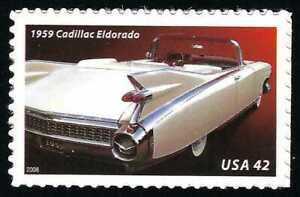 1959 Cadillac Eldorado Biarritz Convertible Automobile Car Stamp MINT CONDITION!