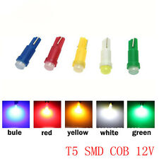 T5 COB DC 12V SMD 10PCs 5 colors Car Vehicle LED Lights Side Auto Wedge Bulbs