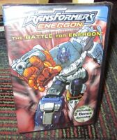 TRANSFORMERS - ENERGON: THE BATTLE FOR ENERGON ANIMATED DVD, 4 EPISODES, NEW
