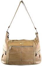 Groß Damen Leder Schulter Tasche / Handtasche (Schwarz, Braun, Hellbraun, Beige)