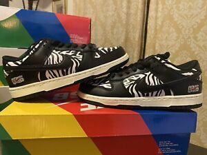 DS Nike SB Dunk Low Quartersnacks Zebra Quick Strike (2021) Size 7 FREE SHIP 🔥
