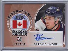 2016-17 ITG Heroes & Prospects International Ice Autograph #II-BG1 Brady Gilmour