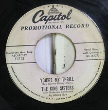 Jazz 45 The King Sisters - You'Re My Thrill / Imagination On Capitol