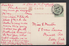 Genealogy Postcard - Newton - Evans Terrace, Bristol Road, Selly Oak - RF1018