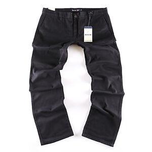 New Übergröße Big Seven Evan schwarz Chino Herren Jeans Stoff Hose Business XXL