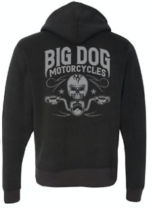 Big Dog Motorcycles Skull Rider Sweatshirt - L, M (Black)
