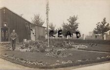 WW1 Soldier group RAMC Royal Army Medical Corps barrack hut & Garden Abbeville ?