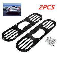 Car Rear Bumper Race Air Diversion Diffuser Panel Universal Aluminum 2PCS