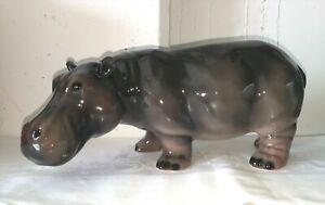 exklusive Dekofigur NILPFERD / Hippo 43cm  Design Italien Keramik handmade