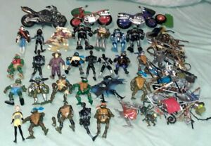 TMNT TEENAGE MUTANT NINJA TURTLES ACTION FIGURES WEAPONS ACCESSORIES LARGE LOT!