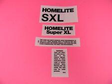 HOMELITE CHAINSAW SUPER XL  DECAL STICKER SET
