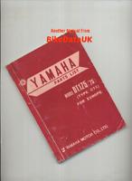 Yamaha DT175 CT1 (1975 >>) Genuine Parts List Catalogue Book Manual DT 175 CH16