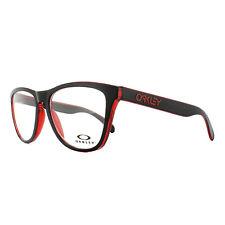 Oakley 8131-01 Frogskin Black on Red Frames Glasses Vista Eyewear ded46fb0d4c1
