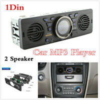 1Din Car Dashboard Bluetooth MP3 Audio Player FM Radio Receiver 2 Speaker USB TF