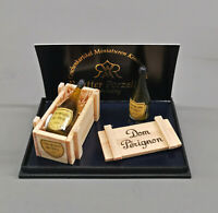 9911078 Reutter Puppenstuben-Miniatur Dom Perignon Champagner in Holzkiste