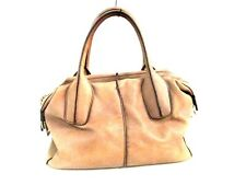 Authentic TOD'S Beige D-Bag Leather Handbag w/ Dust Bag/ Shoulder Strap