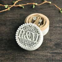 Personalized Wedding Ring Box Custom Initials Engagement Ring Box Jewelry Holder