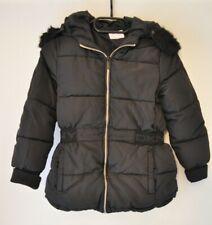 Designer DKNY Winterjacke Schwarz Mädchen Jacke warm Girl 8 - 10 *Weihnachten*