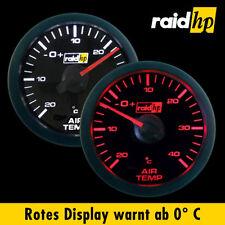 Raid HP Sport Aussen / Außen Thermometer /Temperatur mit Sensor LED weiß/schwarz