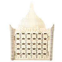 Wooden DIY EID Mubarak Calendar Ramadan Muslim Islam Decor Home Party Countdo YK