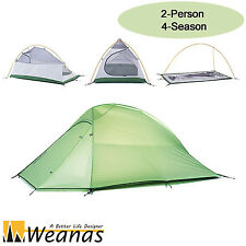 Weanas 2 Person 4 Season Ultralight Waterproof  Double Layer Tent Hiking Shelter