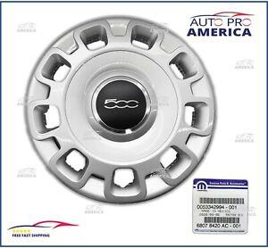 "NEW OEM MOPAR 2012-2019 FIAT 500 fits 15"" STEEL WHEELS COVER HUB CAP 68078420AC"