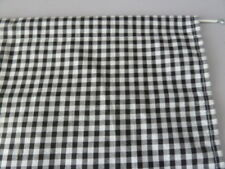 "Black and white 1/4"" gingham check cupboard single curtain 35""  x 42"" free post"