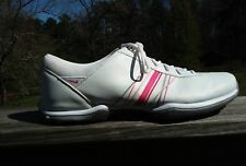 Nike Women's Sz 10 Golf Shoes TAC Traction at Contact Power Channel White Pink