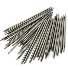 "55pcs 11sizes Stainless Steel 7.9"" 20cm Double Pointed Knitting Needles S Pro AU"