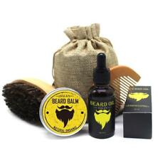 Beard Oil Kit with Moustache Comb Brush & Storage Bag