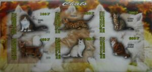 DOMESTIC CATS 12 different mint (MNH) MINI SHEETS nice composition SALE! #X05