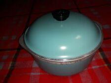 CLUB Aluminum Dutch Oven & Lid  Aqua Teal Turquoise Blue 4 QT Vintage GOOD COND.
