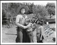 Tommy Cook  as Little Beaver Hand-Signed Red Ryder Photo Autographed