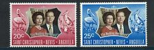 Saint Christopher Nevis Anguilla Postage Stamps Silver Wedding 1972
