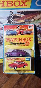MATCHBOX Superfast67A Volkswagen 1600 TL Dark Purple / Unpainted Base / Blister