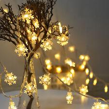 20LED 3M Yellow String Fairy Lights Snowflake Xmas Tree Christmas Home Decor