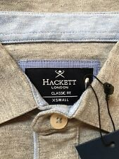 Hackett London Shirts Poloshirts grau/blau XS kurzarm Classic fit ,Neu