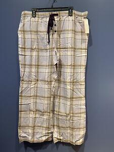 Womens 2X Pajama Lounge Pants, Purple Plaid, Tie Elastic Waist, Gilligan NWT
