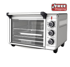 Stainless Steel Convection Countertop Toaster Oven Baking Cooking BLACK + DECKER
