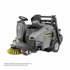 Karcher KM 105/110 Ride On Floor Sweeper w/ Batteries, 3 Brushes, Demo Equipment