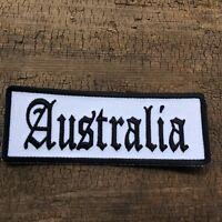 AUSTRALIA PATCH Leather Vest Sew or Iron on patch Aussie Biker